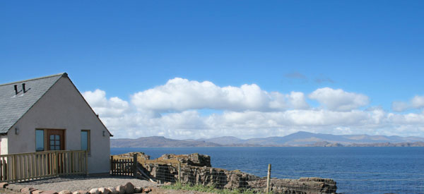Holly's House and the view to Raasay